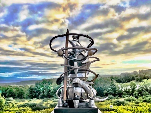 A sculpture by Susan Pullman Brooks.