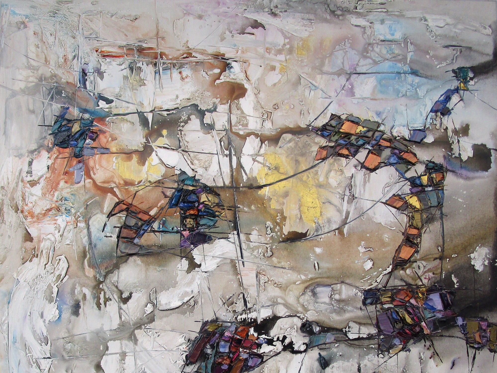 A work by Ukrainian-Canadian artist Maya Eventov.