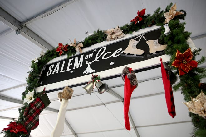 Salem On Ice is set up during opening weekend at Riverfront Park on Sunday, Nov. 18, 2018, in Salem.