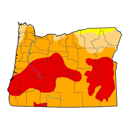 Much of Oregon is mired in drought.