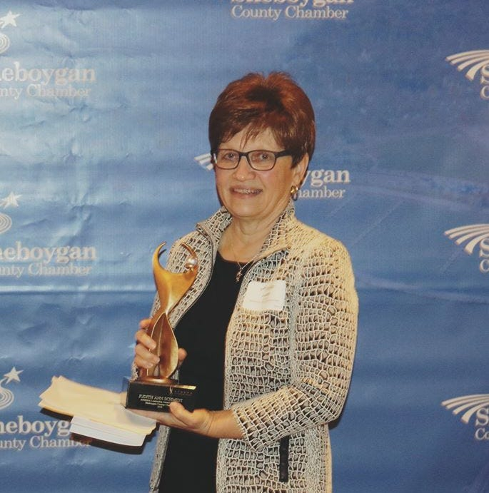 Sheboygan County Chamber awards Judith Schmidt with 2018 Athena Leadership Award