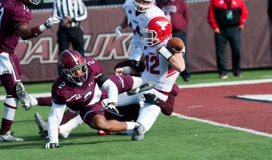 SIU's Jeremy Chinn (2) is one of the Valley's top defensive backs