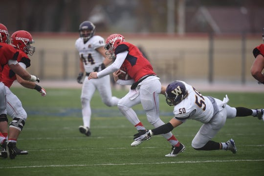 WIU's Pete Swenson (50) led the Valley with 14.5 sacks this season