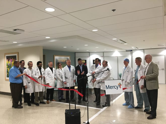 "Mercy Springfield physicians and other co-workers held a ribbon-cutting for ""Phase I"" of Mercy Heart Hospital Springfield on Nov. 19, 2018. The heart hospital is expected to be completed, in three phases, by fall 2020."