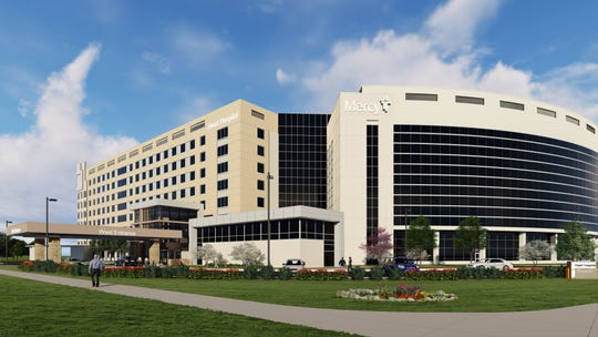 An architectural rendering shows what Mercy Heart Hospital Springfield will look like after three phases of construction are completed in fall 2020. The hospital opened phase I of the $80 million project Nov. 19, 2018.