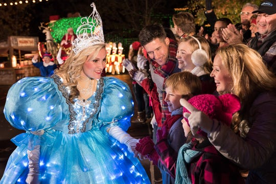 The Snow Princess greets visitors during the parade.