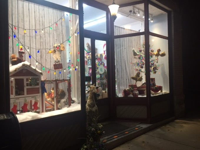 Pufferbellies' holiday window display placed first in Staunton Downtown Development Association's holiday storefront window display judging contest