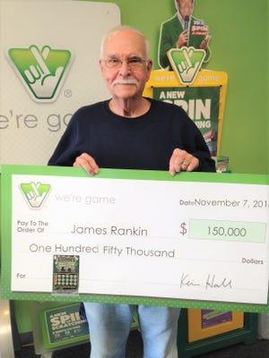 Verona resident James Rankin won $150,000 in a Virginia Lottery scratch off ticket.