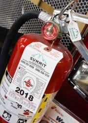 Everyone should have charged and inspected fire extinguisher shown Monday, Nov. 19, at the St. Cloud Fire Department.