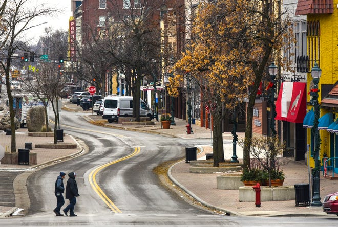 Businesses along West St. Germain street Monday, Nov. 19, in downtown St. Cloud.