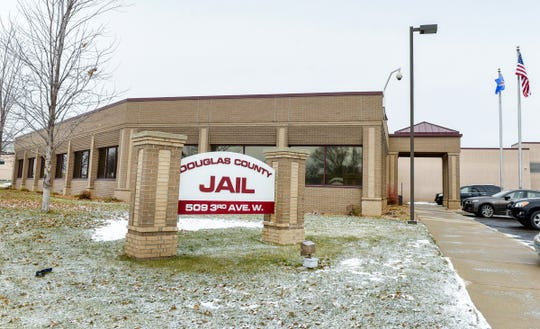 The Douglas County Jail shown Friday, Nov. 16, in Alexandria.