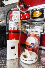 In this November 2018 file photo Phillip Schaefer, assistant fire marshal for the St. Cloud Fire Department, describes ways to stay safe. Make sure smoke and carbon monoxide detectors are in working order with working batteries and your fire extinguisher is charged.