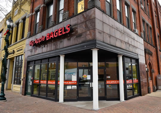 Big Apple Bagels has closed and is for sale according to a sign on the door Monday, Nov. 19. It's at 701 West St. Germain St. in St. Cloud.