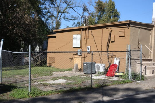 The back of Speed's Grocery where parties were held and drug deals took place, located on Floral Street in the Bond Neighborhood, Friday, Nov. 16, 2018.