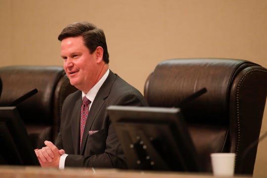 Mayor John Dailey speaks for the first time as mayor during the Tallahassee City Commission reorganization meeting Monday, Nov. 19, 2018.