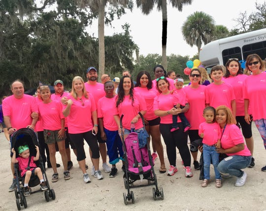 Team Grace Rehab brought staff, volunteers and family members to the 2018 Walk To Remember on Nov. 3 at Riverside Park in Vero Beach.