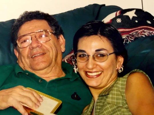 John Franke with his daughter, Christine Franke.