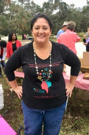 Walk To Remember Volunteer Chair Tiffany Tripson at Riverside Park in Vero Beach on Nov. 3.