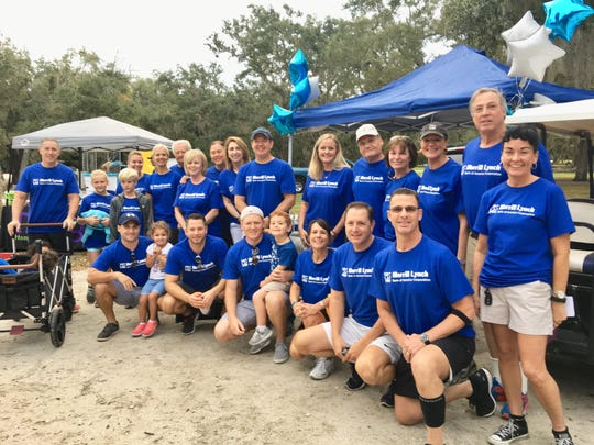 Team Merrill Lynch came out strong to support the 2018 Walk To Remember on Nov. 3 at Riverside Park in Vero Beach.