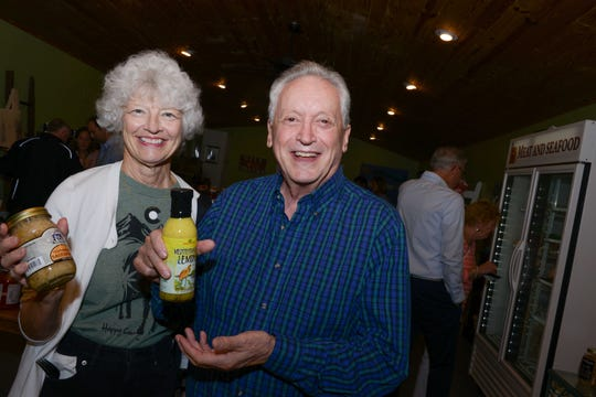 Linda and Guido Cecchini at Treasure Coast Food Bank's Fall Harvest Dinner at Schacht Groves in Vero Beach.