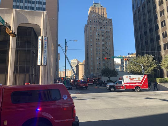 El Paso firefighters responded to a blaze at the Blue Flame Building in Downtown El Paso.