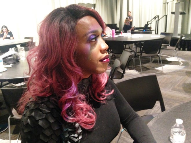 """Vivian Storm, one of the performers on Sunday at the fourth annual Transgender Day of Remembrance in Oxnard, stressed the need for such events. """"Now, more than ever, people are really focused on owning who they are,"""" Storm said."""
