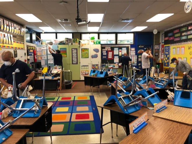 Conejo Valley Unified maintenance and operations, grounds, custodial and facilities crews have been working around the clock to get the schools ready for students and staff to return following the wildfires.