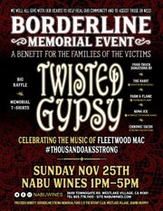 Local Fleetwood Mac tribute band Twisted Gypsy, which regularly plays the Borderline Bar & Grill in Thousand Oaks, will headline a benefit Sunday for the families of the 12 people killed in the recent shooting there.