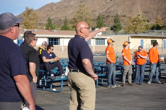 Tim McCabe, director of planning and construction for the district, stands at Sycamore Canyon School. CVUSD maintenance and operations, grounds, custodial, and facilities teams, as well as some of the 60 volunteers from Home Depot, came to the school last week to help with the restoration efforts.