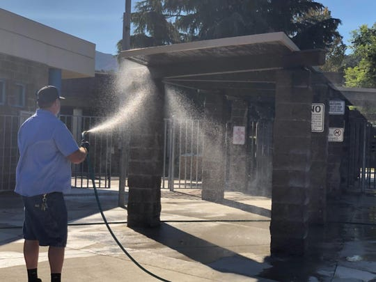 Conejo Valley Unified maintenance and operations, grounds, custodial and facilities crews have been working around the clock to get the schools ready for students and staff to return following the fires.