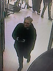 Surveillance image of suspect police believe used counterfeit money at Target and Walmart in Millville.