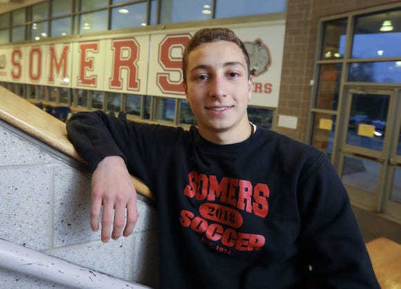 Lucas Fecci of Somers, Westchester/Putnam soccer player of the year Nov. 19, 2018.
