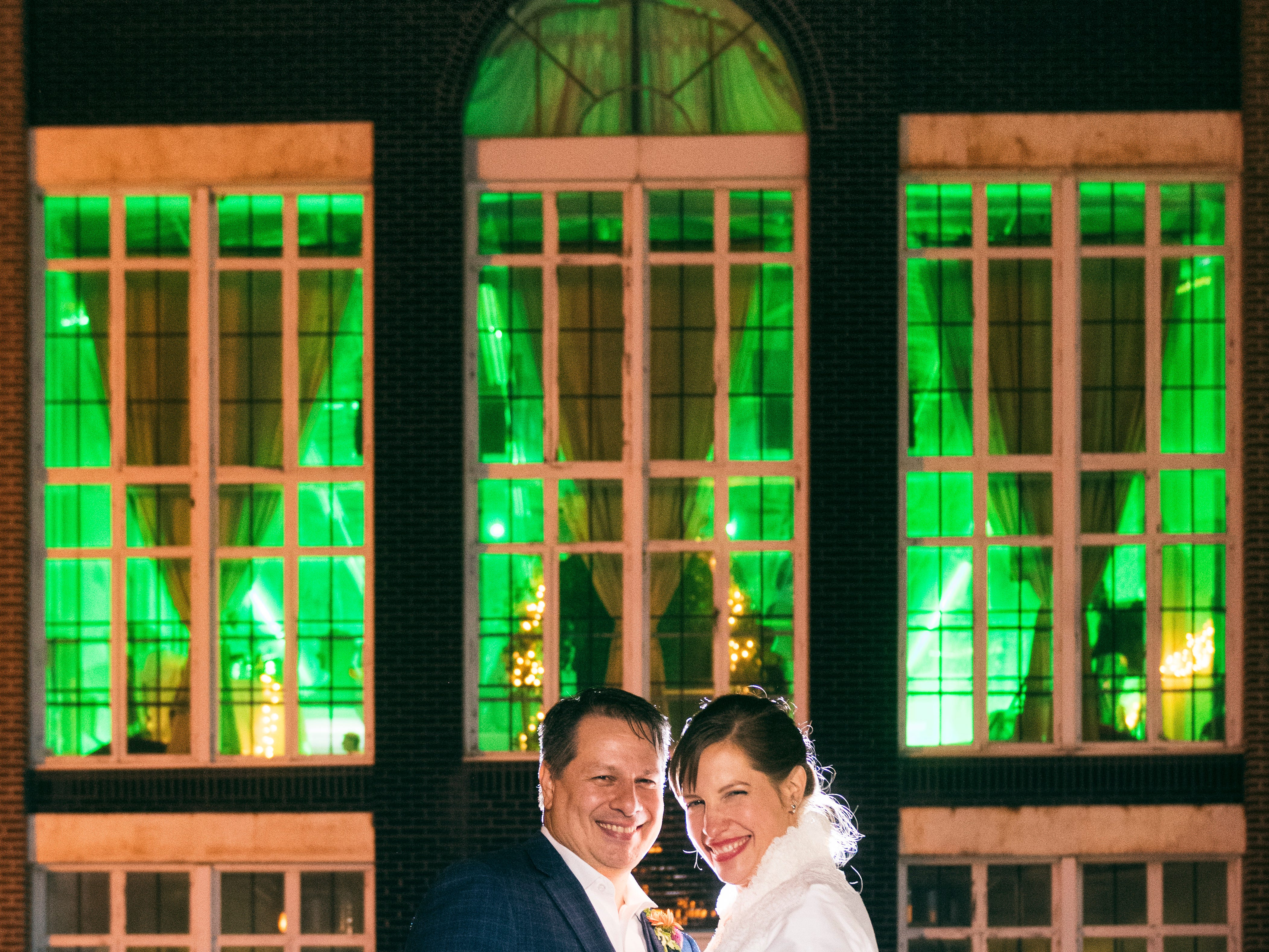 The wedding of Lauren Peters and Rob Matera at Opera Delaware in Wilmington.