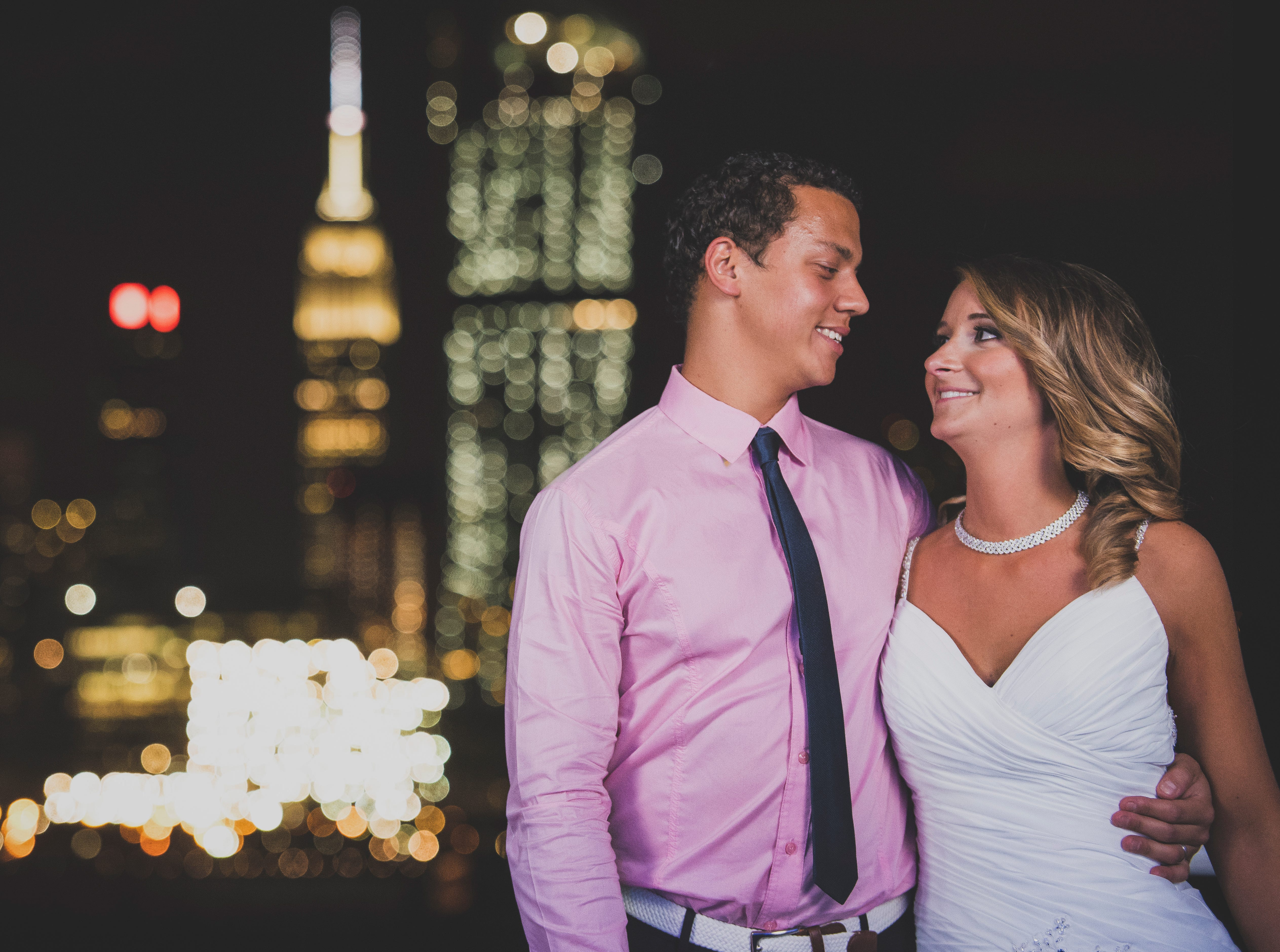 The wedding of Rebecca and Marcus Gordon at The Majestic Princess in Weehawken, New Jersey.