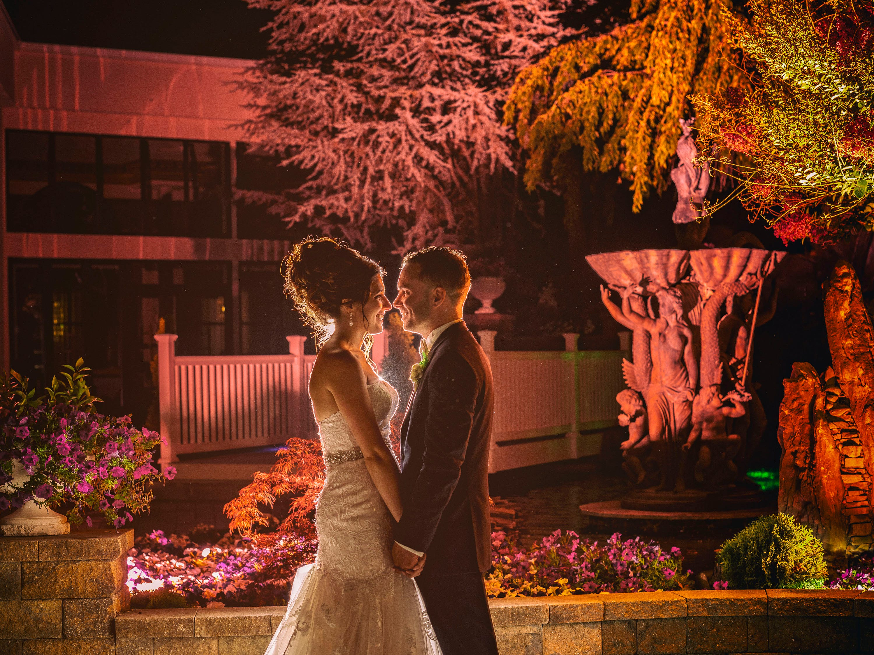 The wedding of Andrea and Tim Davis at Luciens Manor in Berlin, New Jersey.