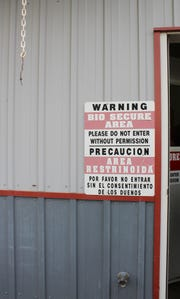 Many dairy farms and livestock operations have posted signs on buildings and at the entrances to their operations in an effort to prevent the spread of disease to animals.