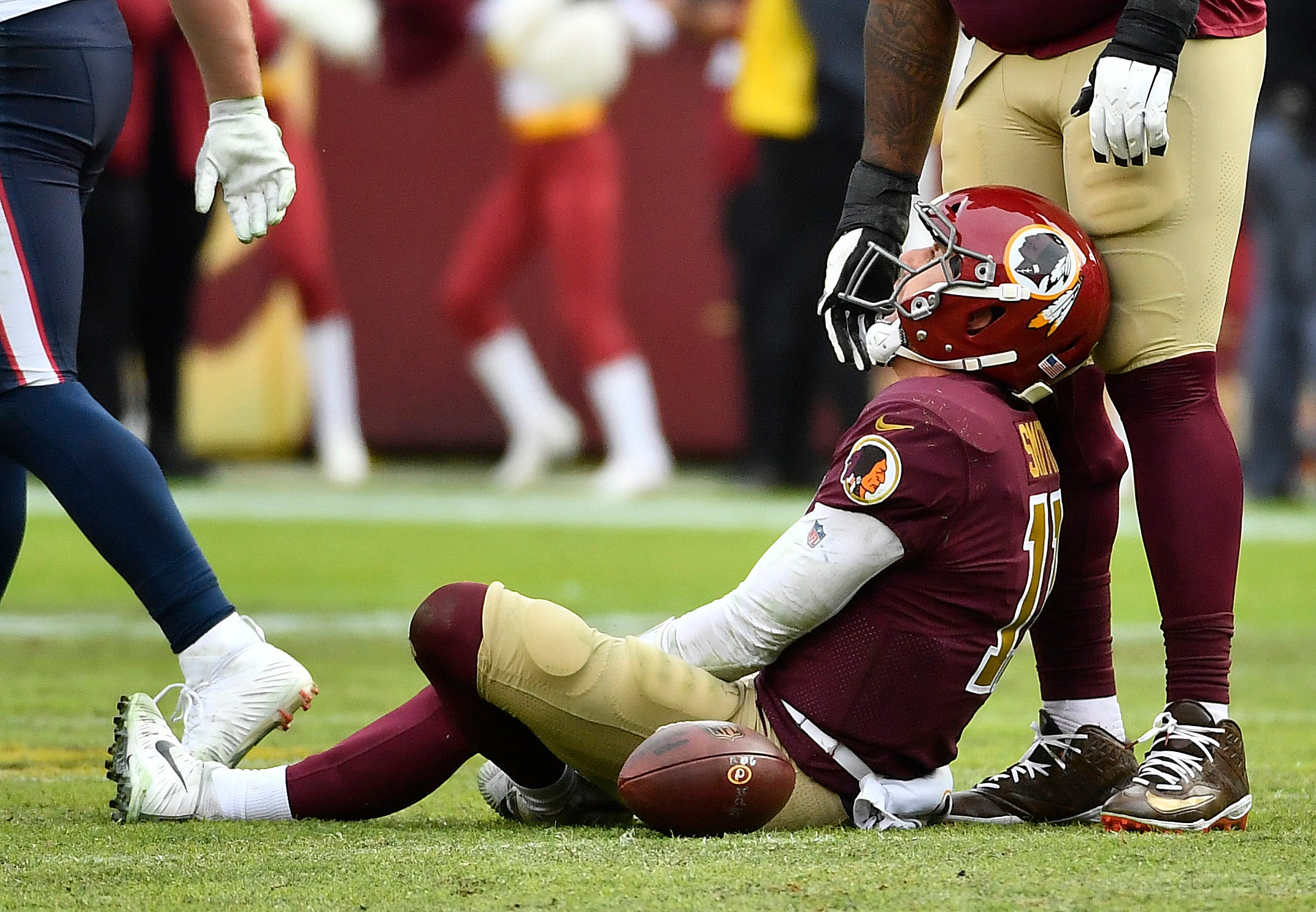 Alex Smith, QB, Washington Redskins (broken leg, out for season)