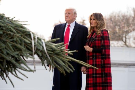 Epa Usa White House Christmas Tree Trump Pol Government Usa Dc
