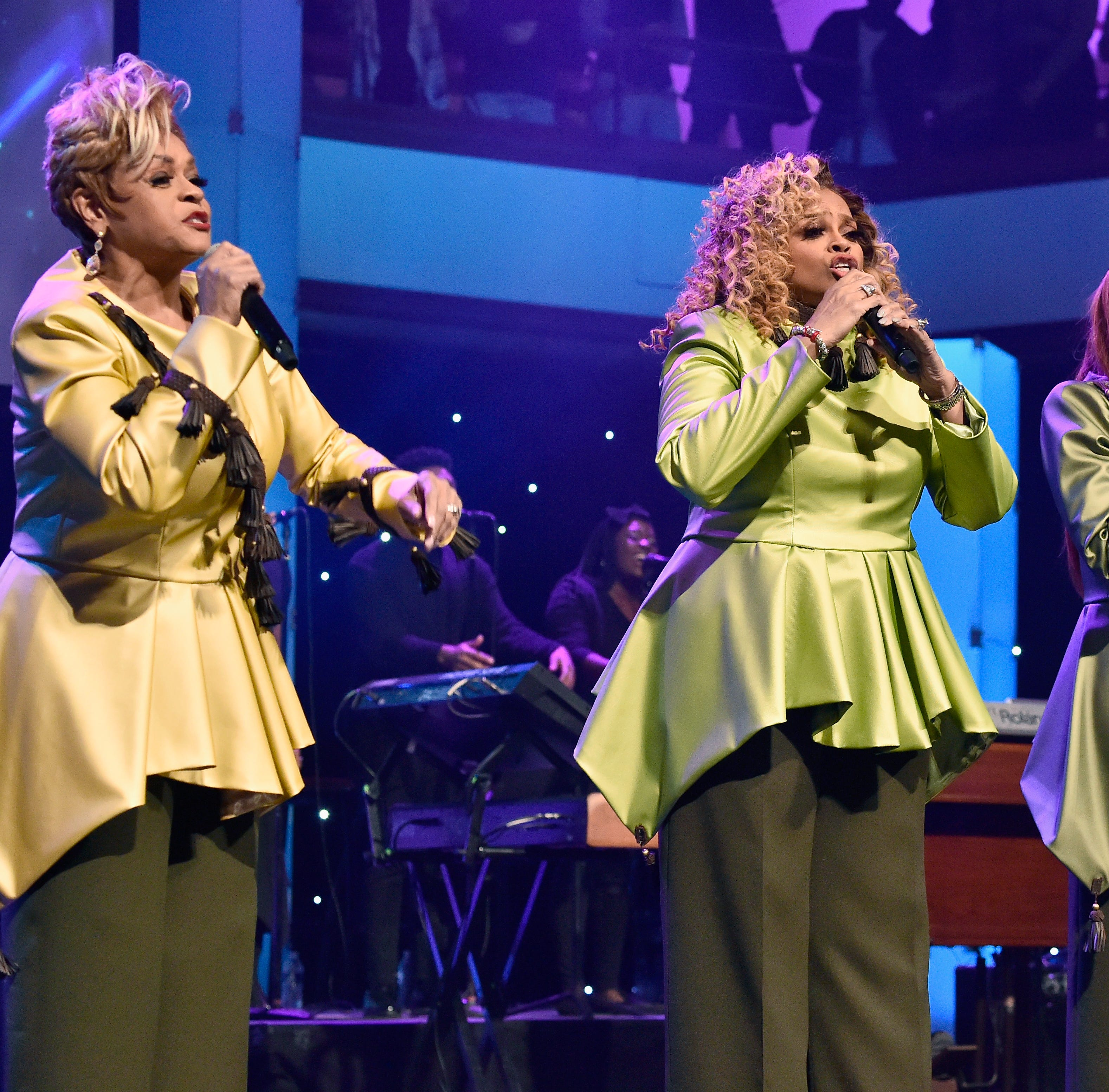 (L-R) Jacky Clark-Chisholm, Dorinda Clark-Cole and Karen Clark Sheard of The Clark Sisters