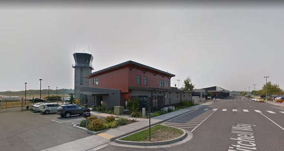This image, provided by Google Street View, shows the Bellingham International Airport in northwest Washington state.
