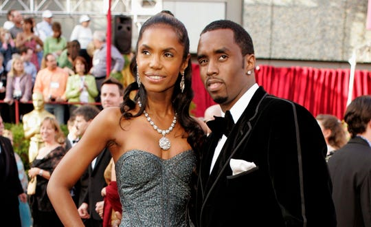 "Sean ""Diddy"" Combs with Kim Porter at the 77th Academy Awards in Los Angeles in February 2005."