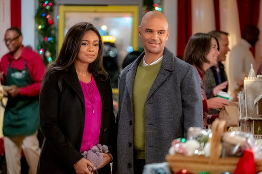 """Christmas Everlasting"" (Hallmark, Nov. 24, 8 EST/PST): Lucy (Tatyana Ali) returns to her hometown for Christmas after her sister's death and rekindles her relationship with Peter (Dondre Whitfield)."