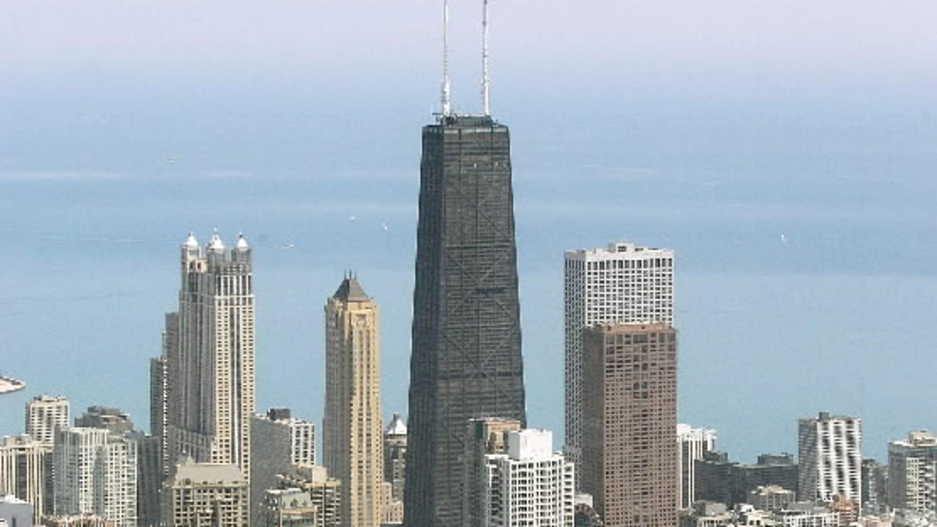 Elevator in Chicago's former Hancock building falls 84 floors  Hancock