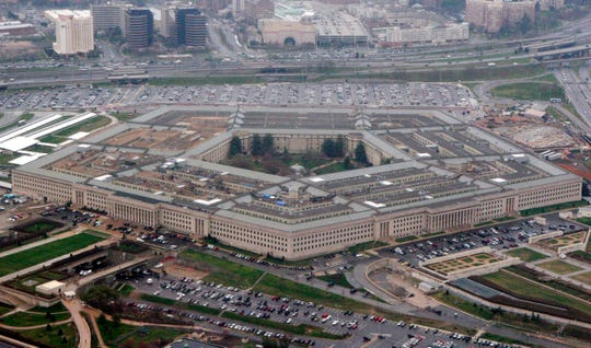 The Pentagon is seen in this aerial view in Washington, in this 2008 file photo.