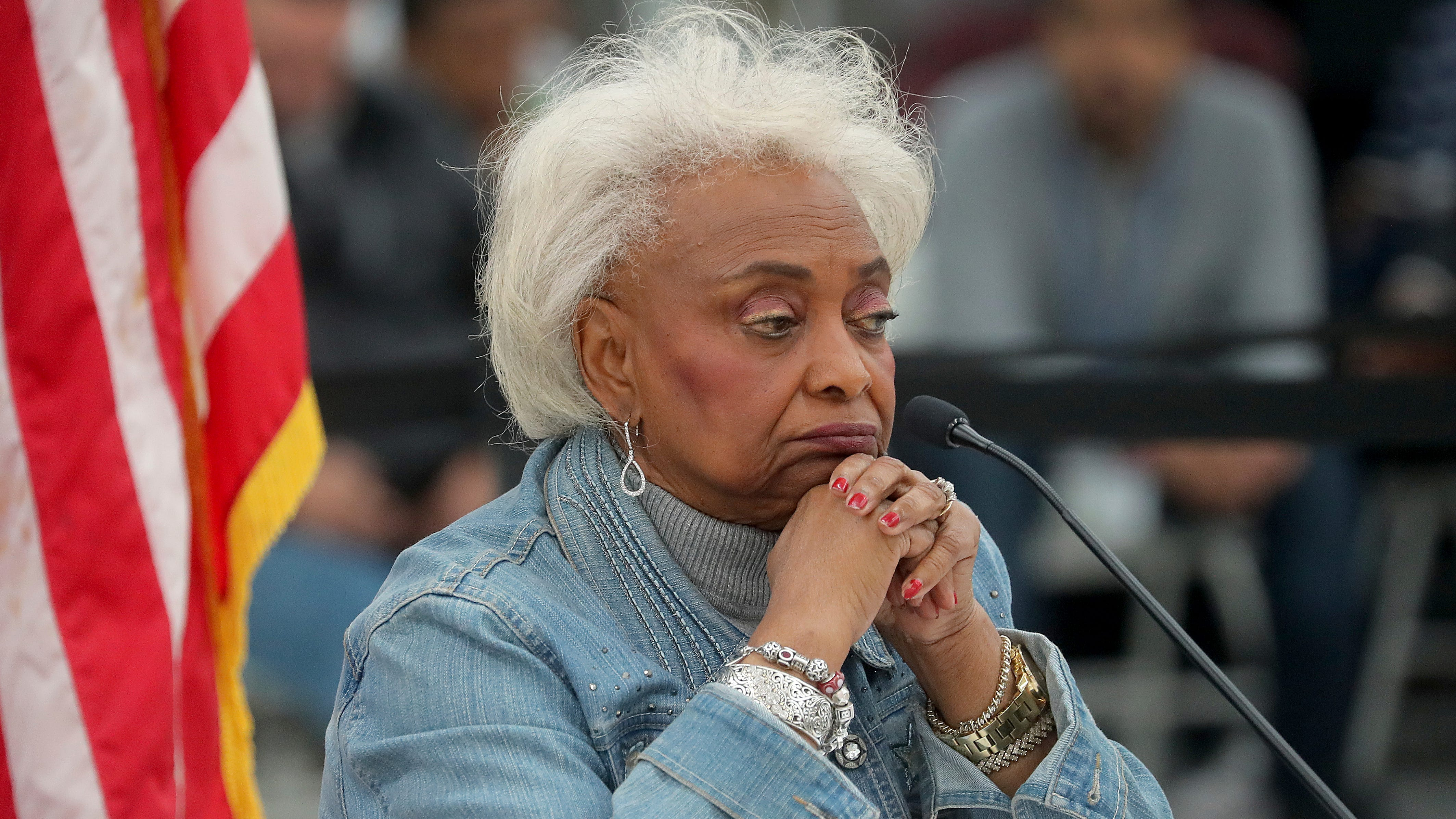 Broward County Supervisor of Elections Brenda Snipes explains to the canvassing board the discrepancy in vote counts on Nov. 17, 2018.