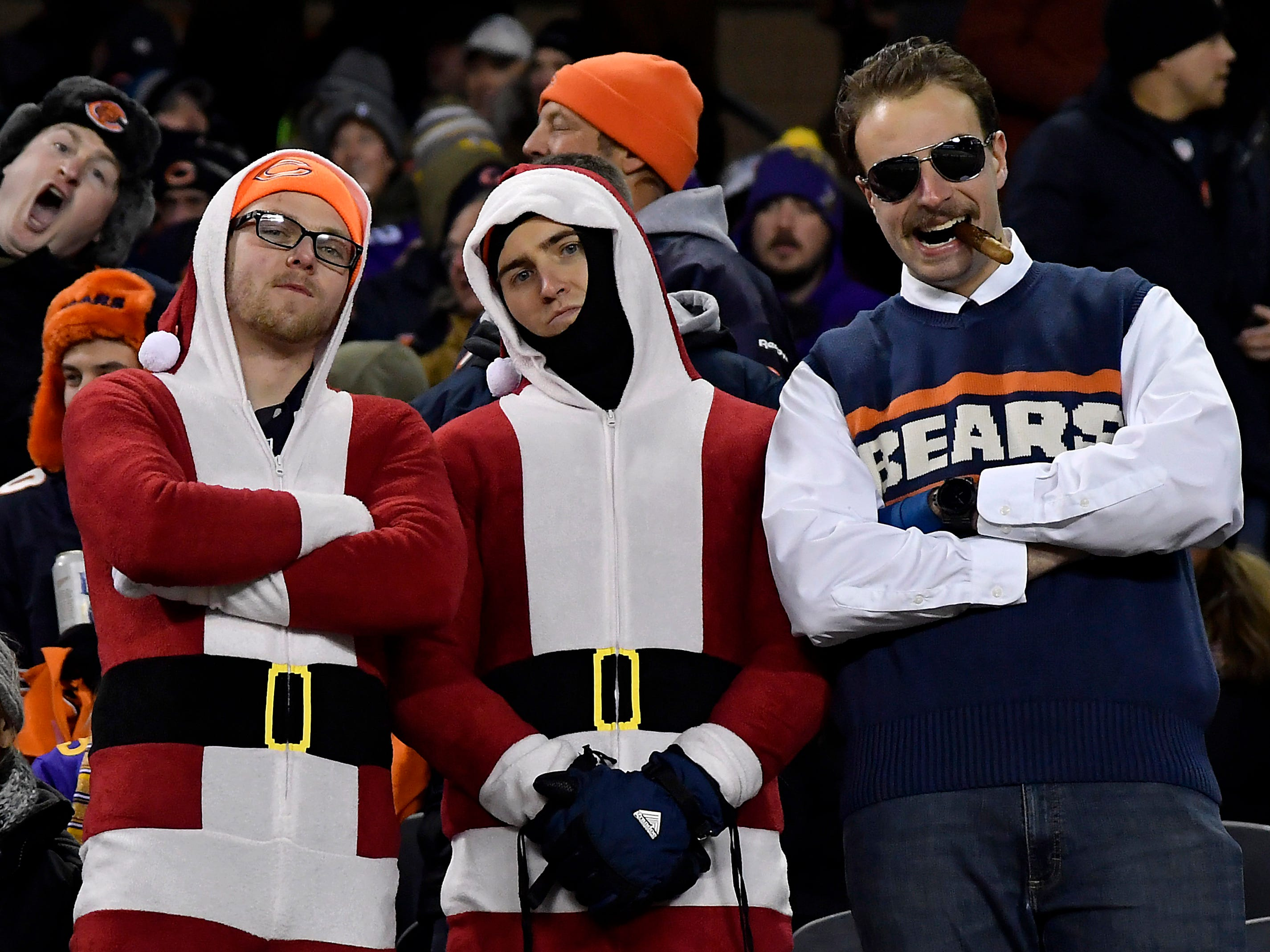 Chicago Bears fans during the game against the Minnesota Vikings at Soldier Field.