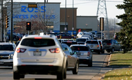 The Christmas shopping season brings a lot of traffic to the Fox River Mall area of Grand Chute.
