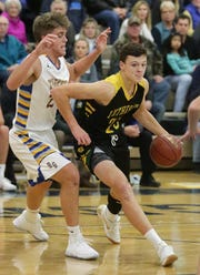 Sheboygan Lutheran's Jacob Ognacevic (23) drives against Howards Grove during a game last season in Howards Grove.