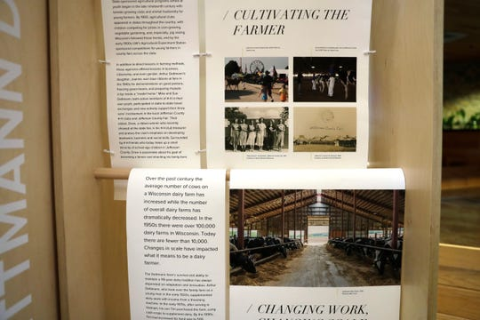 The Lands We Share program, comprising oral histories and images of six culturally distinct farms, is touring Wisconsin. The multimedia display is at the Radisson Hotel and Conference Center in Green Bay through the weekend.