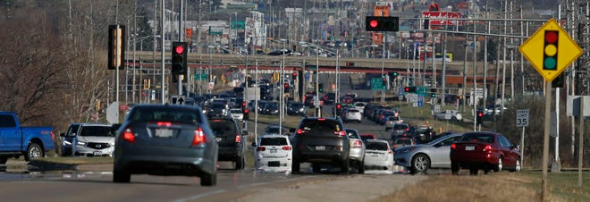 Traffic will be busy along Wisconsin Avenue and other arteries near the Fox River Mall in Grand Chute as Black Friday shopping kicks into high gear.
